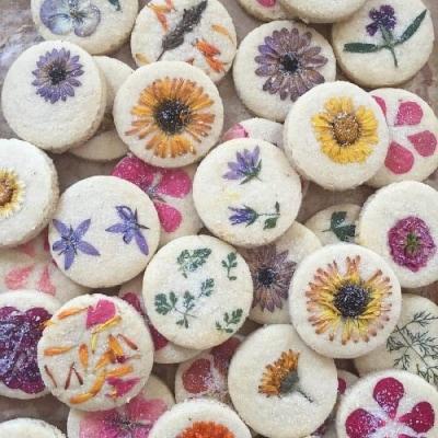 Flower Press Cookies