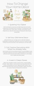 4 simple tips to update your home decor Infographic