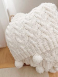 Cozy Cable knit Throw Neutral Armchair - When your decorating style changes