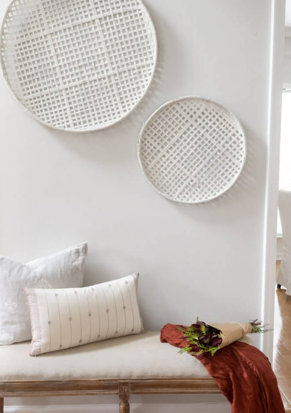 Studio McGee Inspired DIY Painted Woven Wall Baskets