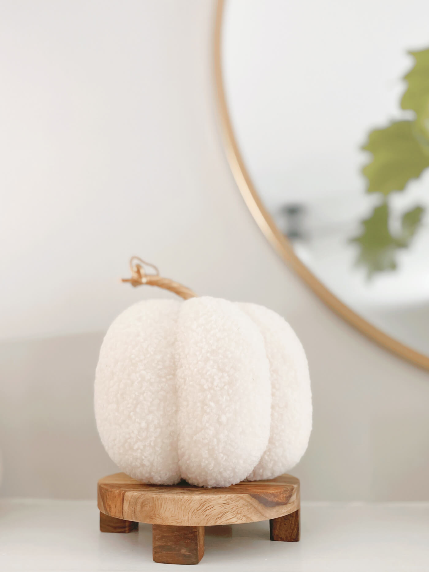 Neutral Fall Decor - When your decorating style changes