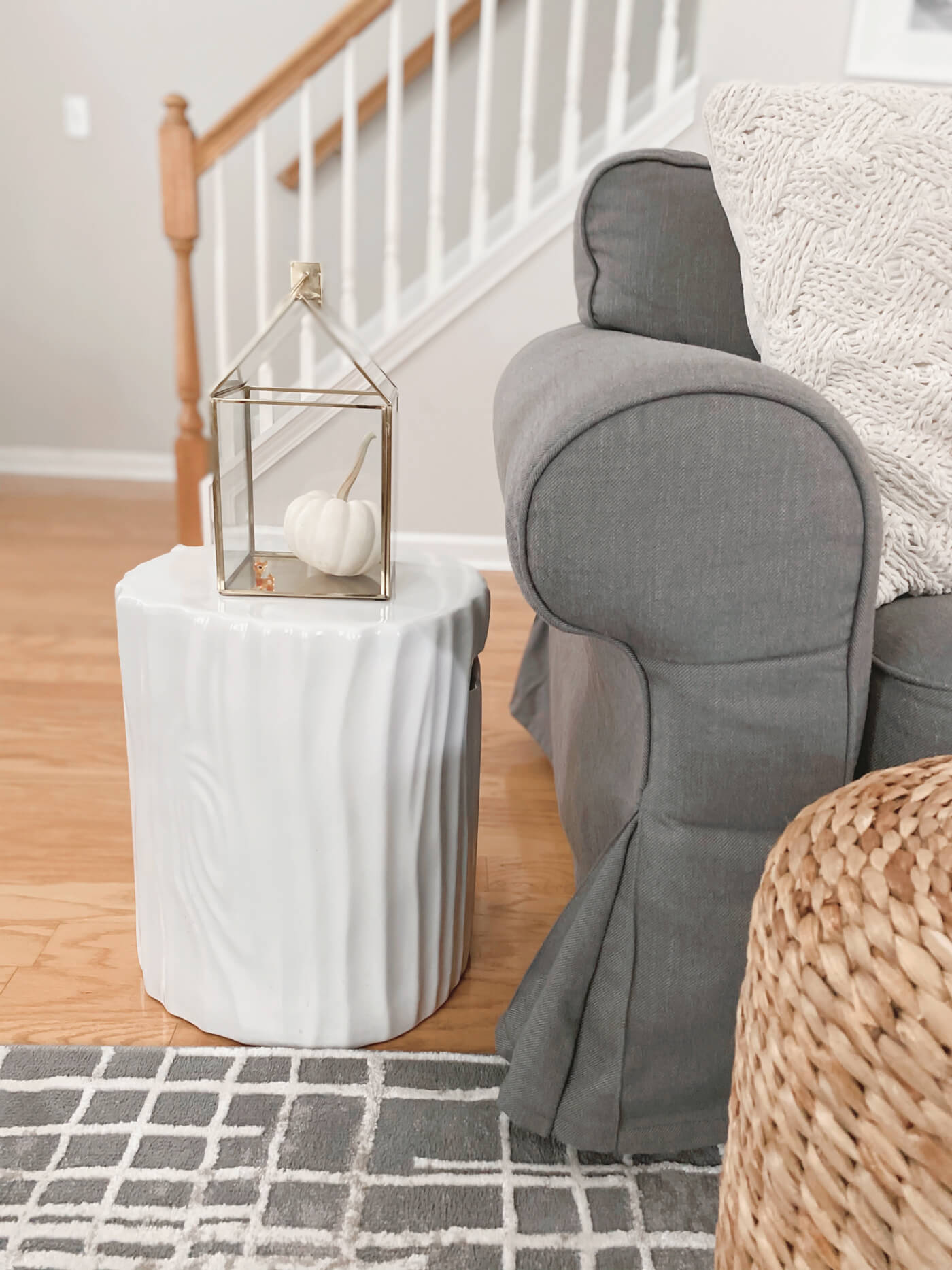 White Modern Garden Stool - When your decorating style changes