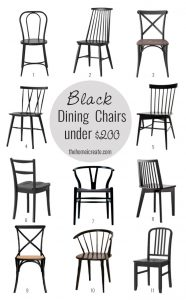 Black Dining Chairs under $200