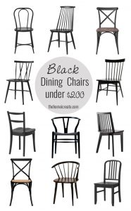 Black Dining Chairs Under 200