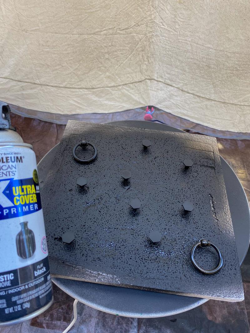 Black Spray Paint Knobs