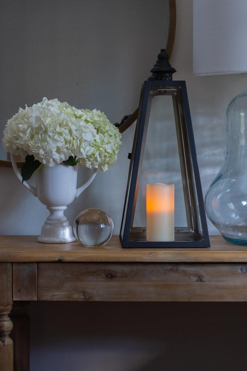 DIY Black Lantern with candle