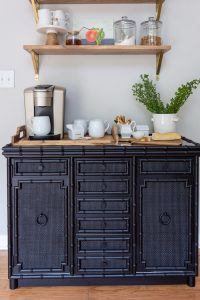 DIY Black Painted Dresser