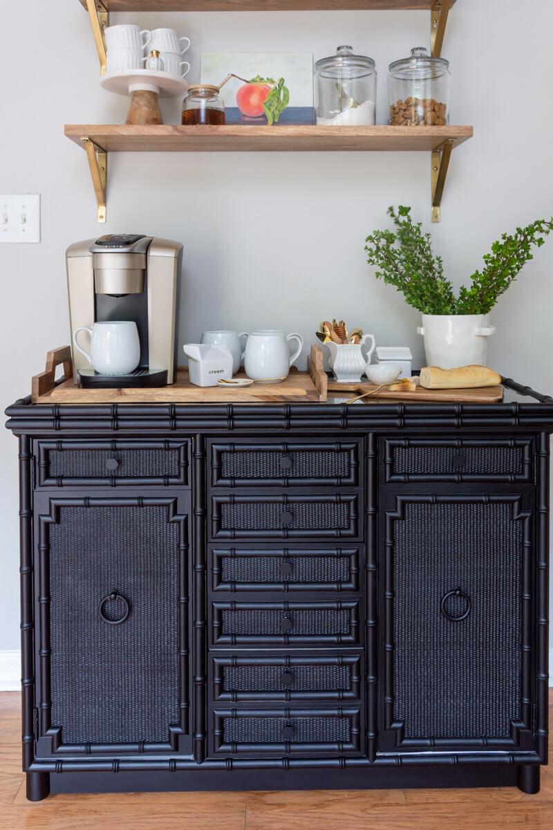DIY Black Painted Dresser