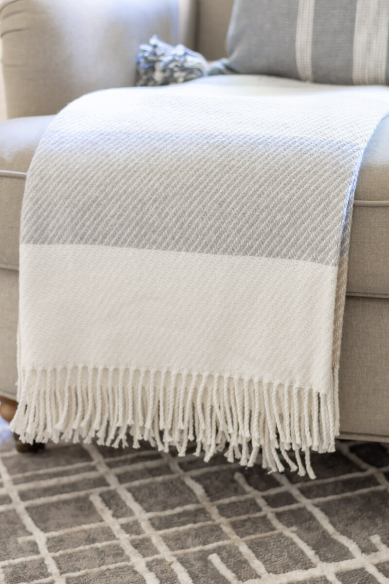 Neutral Throw in the family room