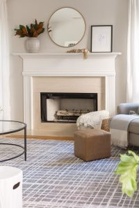 neutral gray and cream rug