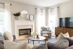 simple family room decor
