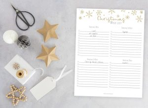 Christmas Wishlist Printable