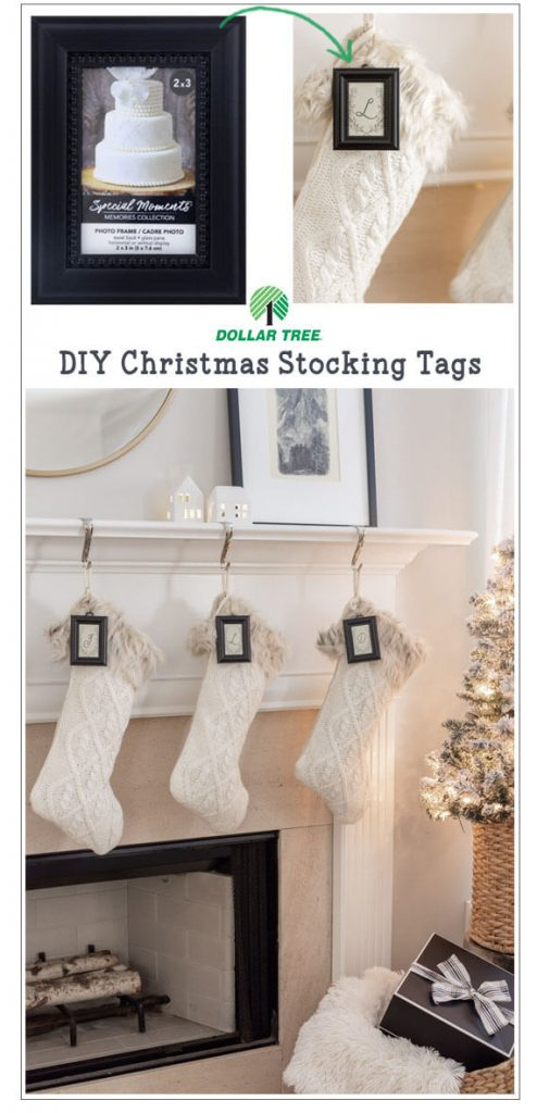 Dollar Store DIY Stocking TagsPin