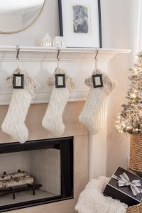 Knit Christmas Stockings with Dollar Store DIY stockings tags