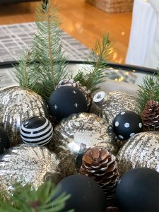 Simple Wooden Bowl With Ornaments